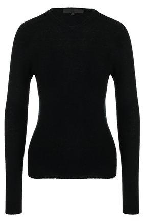 Шерстяной пуловер с V-образным вырезом | Фото №1