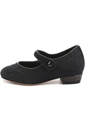 Парчовые туфли с ремешком | Фото №2