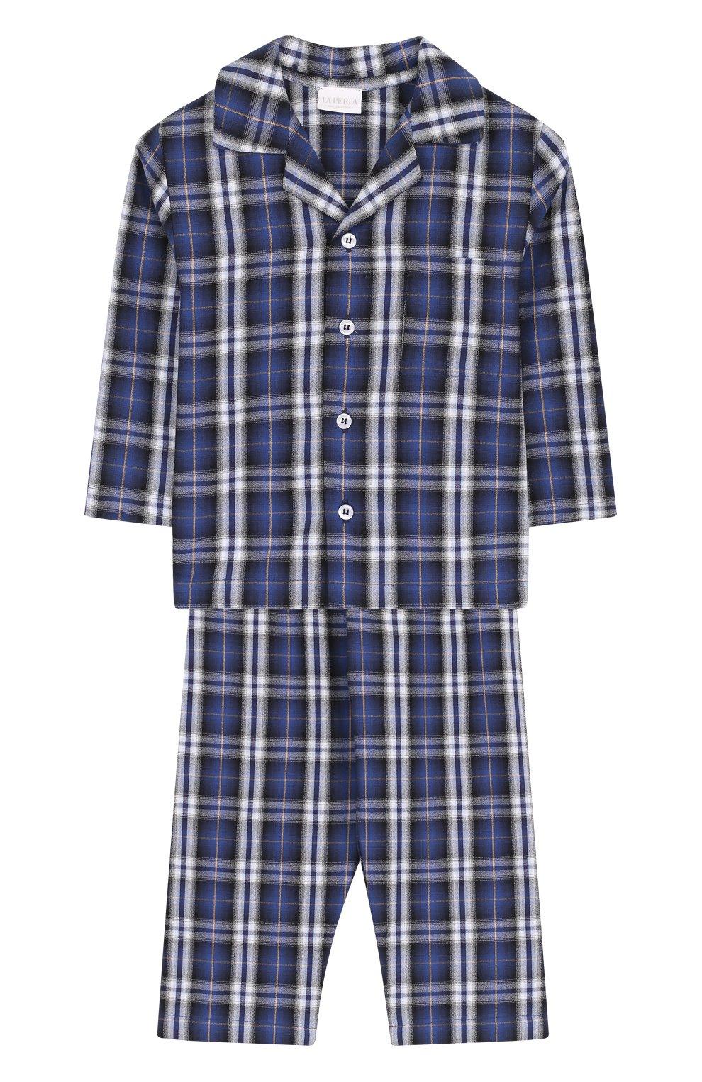 Хлопковая пижама в клетку   Фото №1