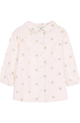 Хлопковая блуза с принтом | Фото №1