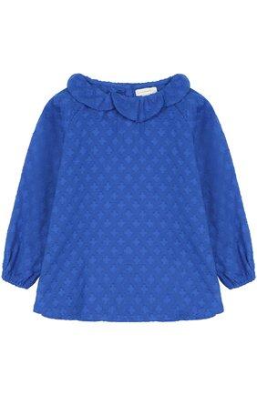 Хлопковая блуза с фактурной отделкой | Фото №1