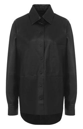 Кожаная блуза свободного кроя | Фото №1