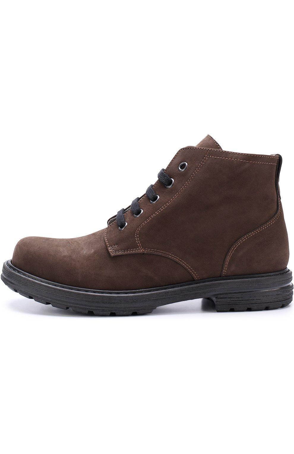 1f3444ddbc34 Детские ботинки из нубука на шнуровке LANVIN коричневого цвета ...
