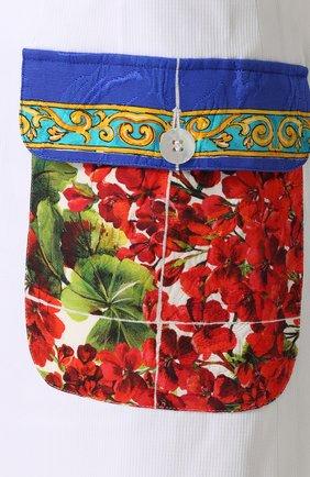 Юбка с контрастными карманами и поясом Dolce & Gabbana белая   Фото №5