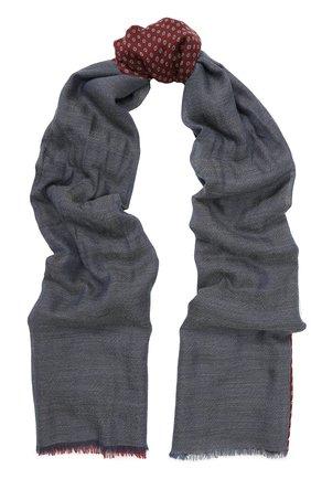 Мужской кашемировый шарф с необработанным краем LORO PIANA красного цвета, арт. FAG3597 | Фото 1
