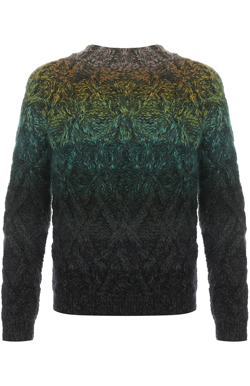 Шерстяной свитер фактурной вязки   Фото №1