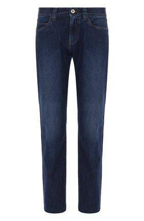 Мужские джинсы LORO PIANA темно-синего цвета, арт. FAF8892 | Фото 1