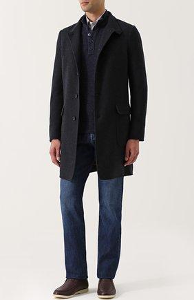 Мужские джинсы LORO PIANA темно-синего цвета, арт. FAF8892 | Фото 2