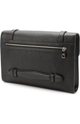 Кожаная папка для документов с клапаном Dolce & Gabbana черная | Фото №3