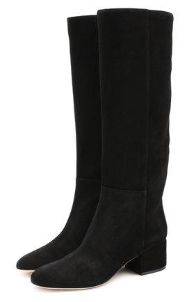 Женские замшевые сапоги virginia SERGIO ROSSI черного цвета, арт. A78340-MCAZ01 | Фото 1