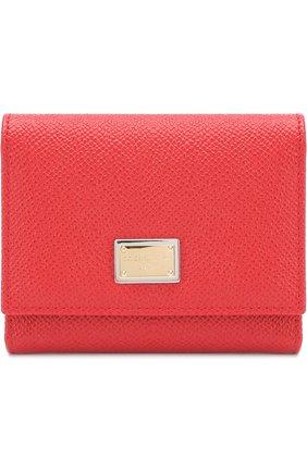 Кожаный кошелек с логотипом бренда   Фото №1