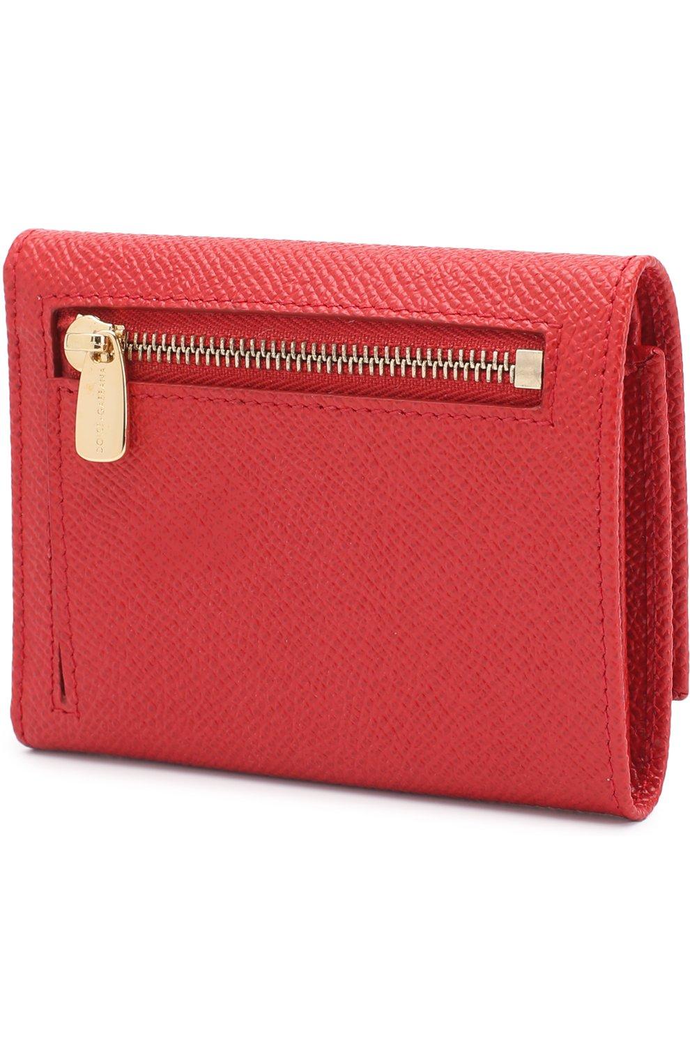 Кожаный кошелек с логотипом бренда   Фото №2