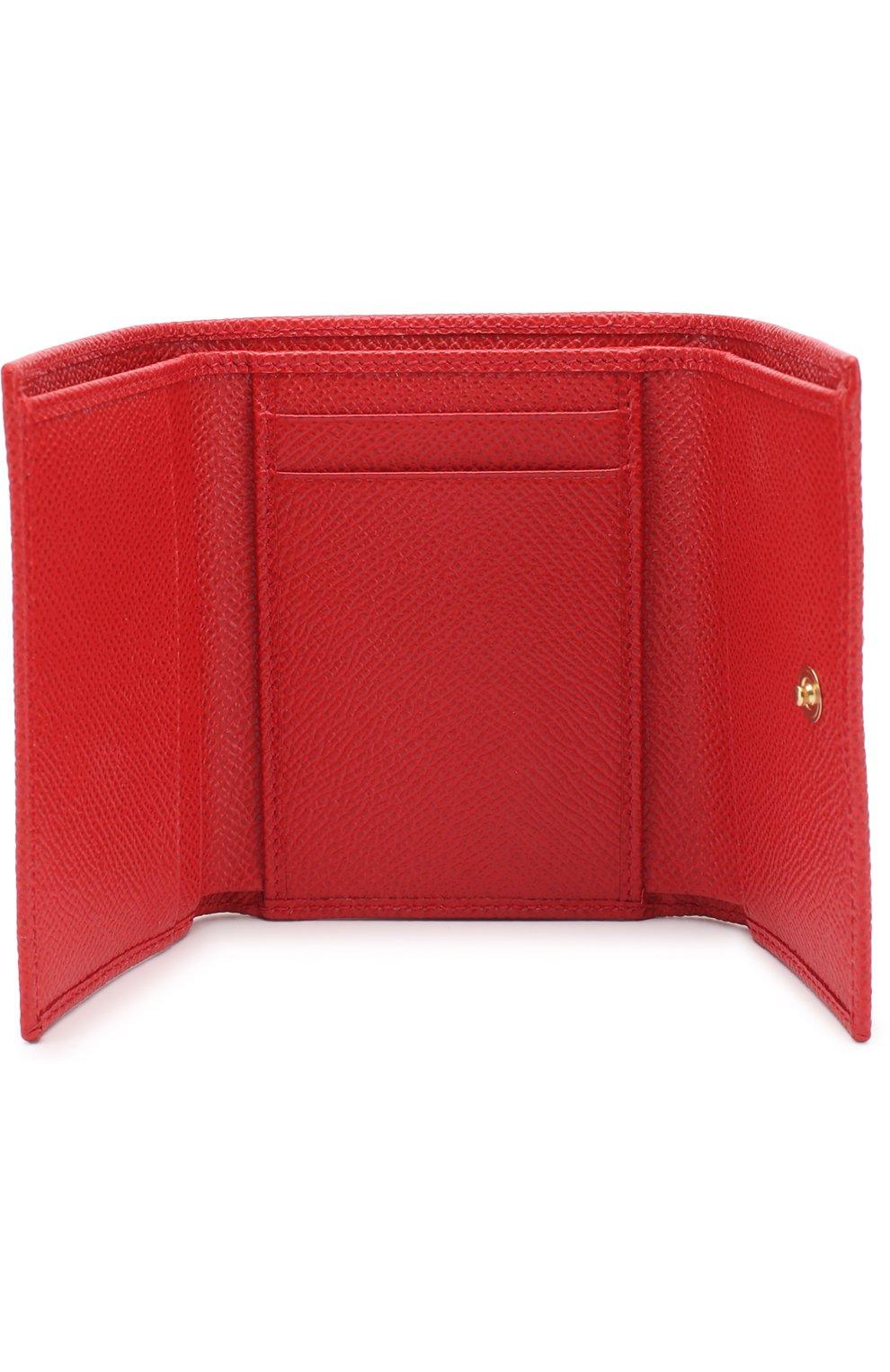 Кожаный кошелек с логотипом бренда   Фото №3