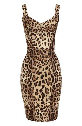 Платье-футляр с леопардовым принтом | Фото №1