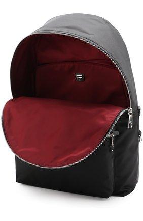 Текстильный рюкзак с контрастными нашивками Dolce & Gabbana черный | Фото №4