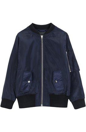 Куртка на молнии с декоративной отделкой | Фото №1