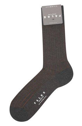 Мужские хлопковые носки shadow FALKE светло-коричневого цвета, арт. 14648 | Фото 1
