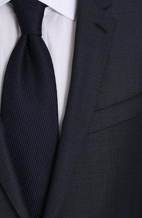 Шерстяной костюм в клетку с пиджаком на двух пуговицах Dolce & Gabbana синий | Фото №6