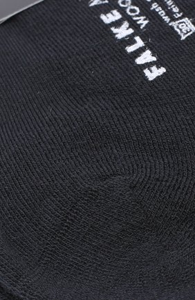 Мужские носки airport plus из смеси шерсти и хлопка FALKE черного цвета, арт. 14403 | Фото 2