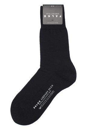 Мужские носки airport plus из смеси шерсти и хлопка FALKE темно-синего цвета, арт. 14403 | Фото 1