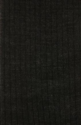 Мужские шерстяные гольфы FALKE темно-серого цвета, арт. 15449 | Фото 2 (Материал внешний: Шерсть; Статус проверки: Проверена категория, Проверено; Кросс-КТ: бельё)