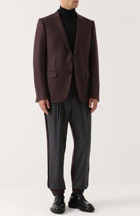 Однобортный кашемировый пиджак Zegna Couture бордовый | Фото №1