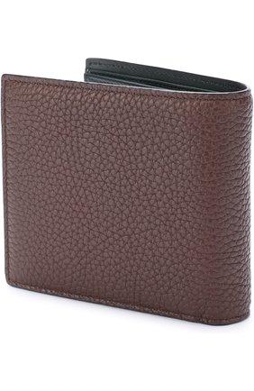 Кожаное портмоне с отделениями для кредитных карт Bally коричневого цвета | Фото №1