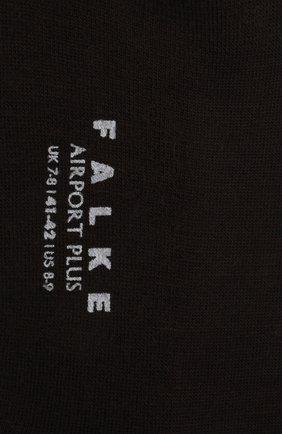 Мужские носки airport plus из смеси шерсти и хлопка FALKE темно-коричневого цвета, арт. 14403 | Фото 2