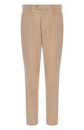 Мужской хлопковые брюки LORO PIANA бежевого цвета, арт. FAG4236   Фото 1