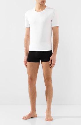 Мужская хлопковая футболка с круглым вырезом ZIMMERLI белого цвета, арт. 172-1461 | Фото 2