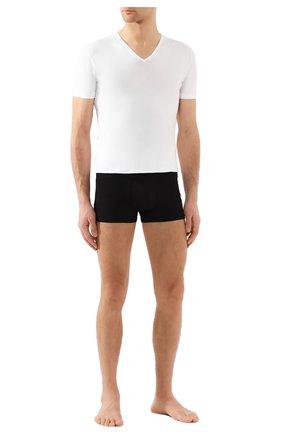 Мужская хлопковая футболка с v-образным вырезом ZIMMERLI белого цвета, арт. 172-1462 | Фото 2