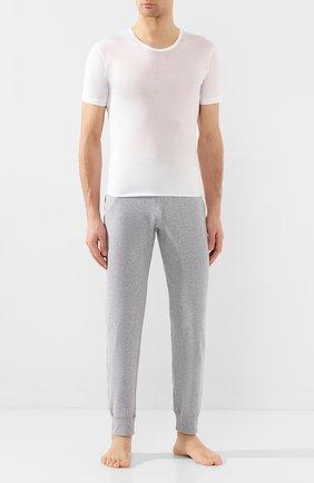 Мужская хлопковая футболка  ZIMMERLI белого цвета, арт. 252-8125 | Фото 2