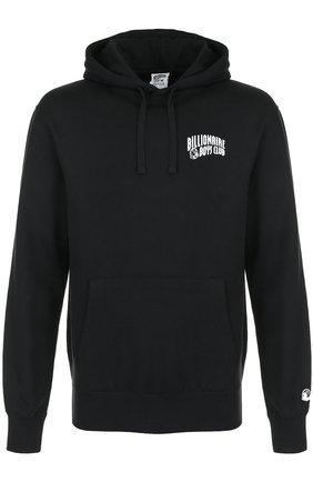 Хлопковое худи с логотипом бренда Billionaire Boys Club черный | Фото №1