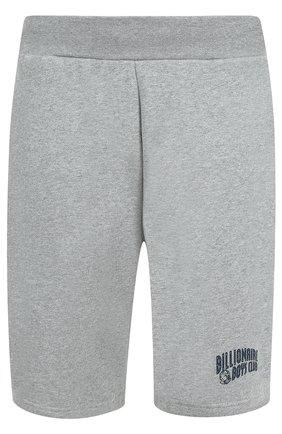 Хлопковые шорты с логотипом бренда Billionaire Boys Club серые | Фото №1