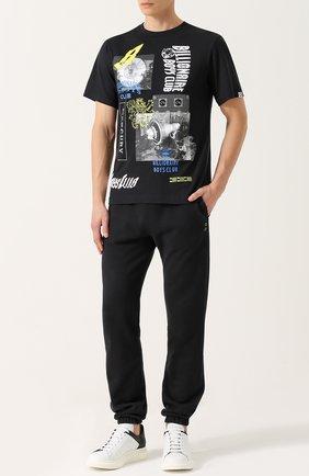 Хлопковая футболка с принтом Billionaire Boys Club белая | Фото №1