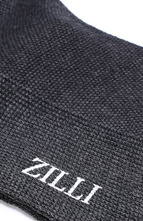 Мужские носки из смеси шерсти и шелка ZILLI темно-серого цвета, арт. 612C015JQ0852 | Фото 2
