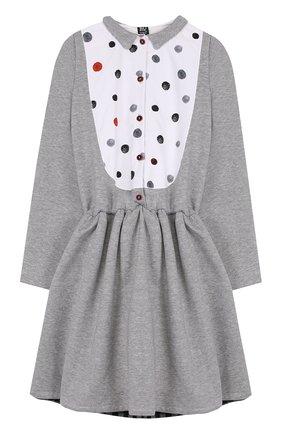 Хлопковое платье с контрастной отделкой | Фото №1