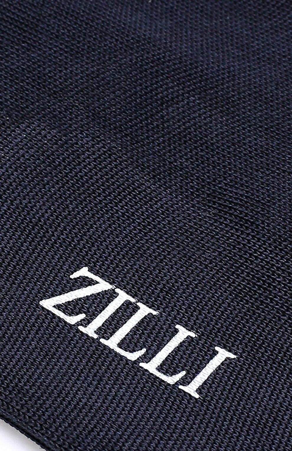 Мужские хлопковые носки ZILLI темно-синего цвета, арт. 612C009RI1434   Фото 2