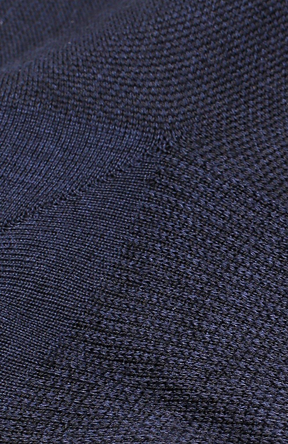 Мужские носки из смеси шерсти и шелка ZILLI темно-синего цвета, арт. 612C015JQ0852 | Фото 2