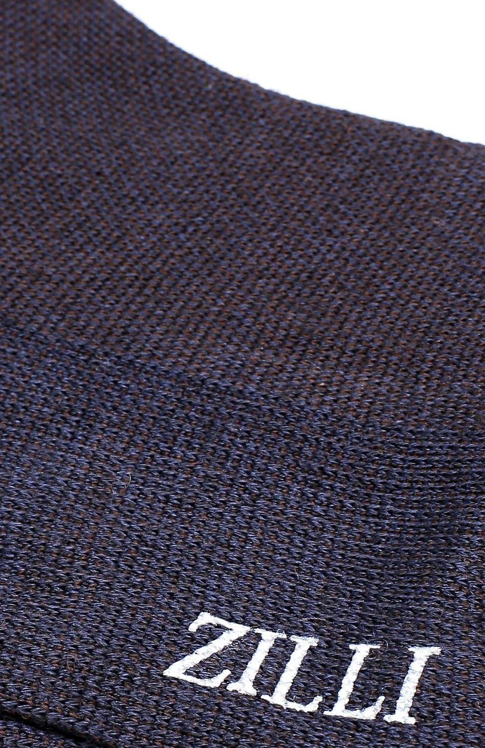 Мужские носки из смеси шерсти и шелка ZILLI синего цвета, арт. 612C015JQ0852 | Фото 2