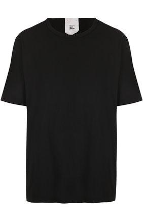 Удлиненная хлопковая футболка свободного кроя | Фото №1