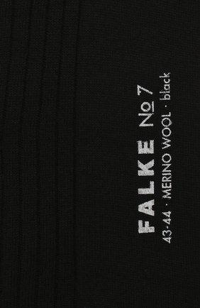 Мужские шерстяные гольфы FALKE черного цвета, арт. 15449 | Фото 2