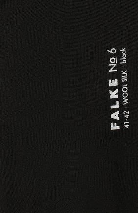 Мужские носки из смеси шерсти и шелка FALKE черного цвета, арт. 14451 | Фото 2