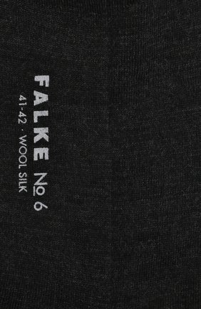 Мужские носки из смеси шерсти и шелка FALKE темно-серого цвета, арт. 14451 | Фото 2
