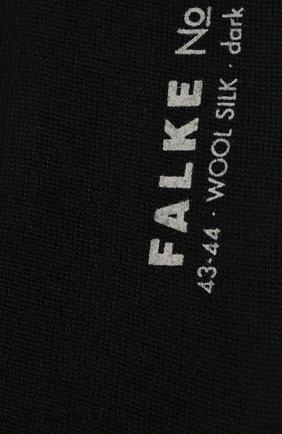 Мужские носки из смеси шерсти и шелка FALKE темно-синего цвета, арт. 14451 | Фото 2