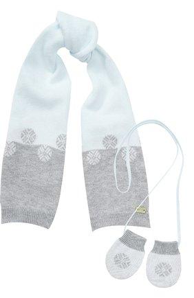 Комплект из шарфа с варежками | Фото №1