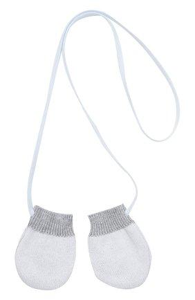 Детский комплект из шарфа с варежками TARTINE ET CHOCOLAT голубого цвета, арт. TK90101 | Фото 4 (Материал: Текстиль, Хлопок; Статус проверки: Проверено)