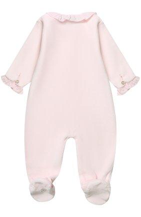 Детский хлопковый комбинезон с отделкой стразами TARTINE ET CHOCOLAT розового цвета, арт. TK54031/1M-18M | Фото 2