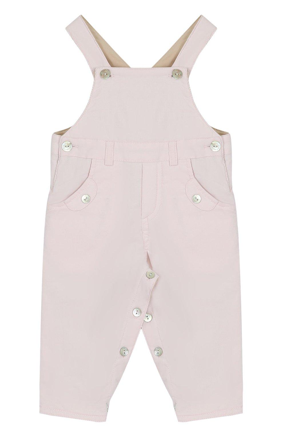 Детский хлопковый комбинезон TARTINE ET CHOCOLAT розового цвета, арт. TK20001/1M-18M   Фото 1 (Рукава: Короткие; Материал внешний: Хлопок)