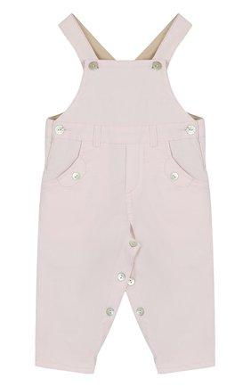 Детский хлопковый комбинезон TARTINE ET CHOCOLAT розового цвета, арт. TK20001/1M-18M | Фото 1 (Рукава: Короткие; Материал внешний: Хлопок)